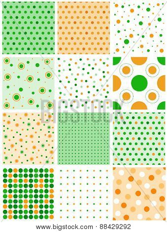 St. Patricks Day Theme Polka Patterns