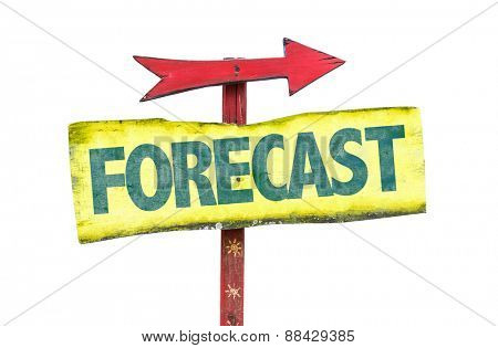 Forecast sign isolated on white