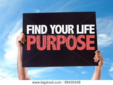 Find Your Purpose card with sky background