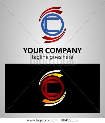 Letter C logo icon set element