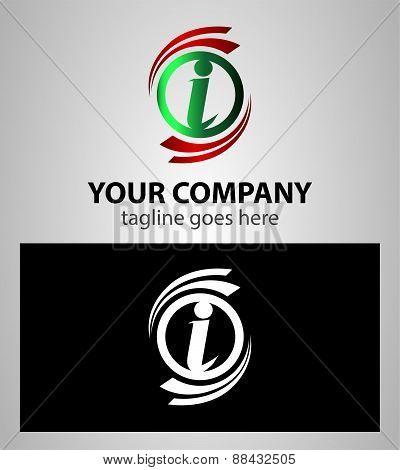 Letter I Company logo icon template set