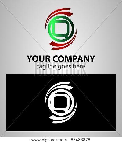 Set of Letter Q logo icon