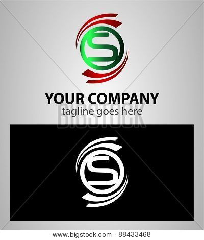 Alphabet Symbols And Elements Of Letter S, such a logo