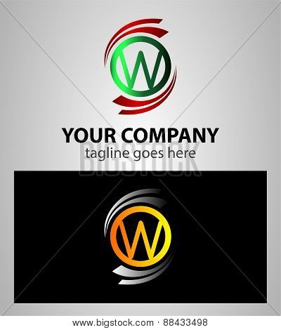 Letter W logo Icons Set Vector Graphic Design