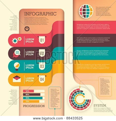 Business info graphic. Vector illustration.