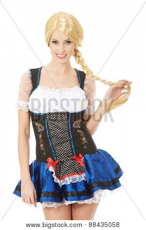 Woman wearing traditional german costume.