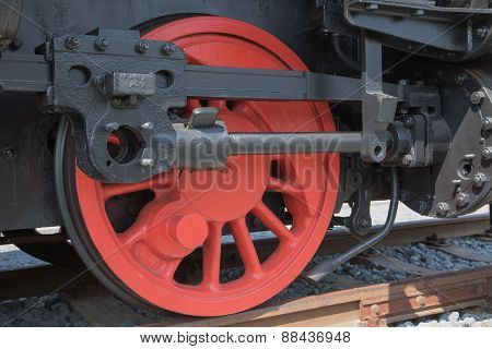 The Wheel Of Historical Steam Locomotive