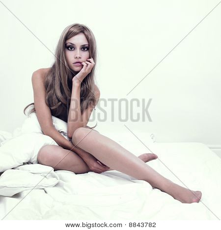 Sensual Girl In Bed