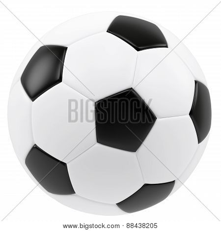 Soccer ball isolated on white background.