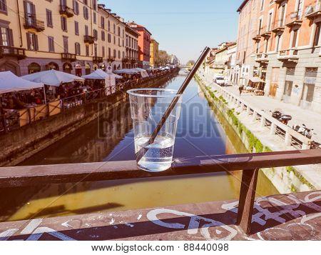 Retro Look Naviglio Grande Milan