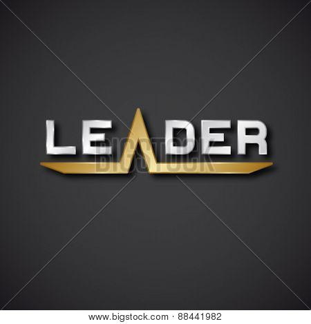 vector leader silver golden inscription icon EPS10