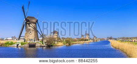 traditional Holland - Windmills in Kinderdijk
