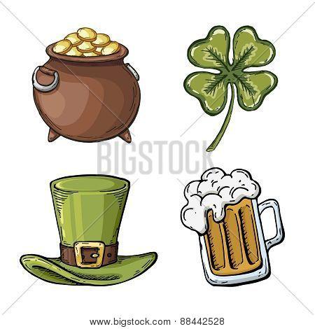 St. Patrick's Day symbol set.