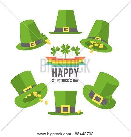 St. Patrick's Day hat set.