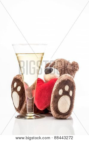Teddy Bear And Champagne