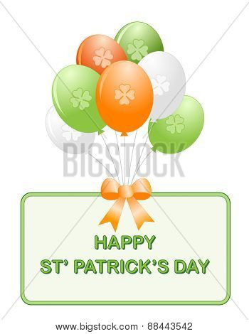 St. Patricks Day Colorful Balloons