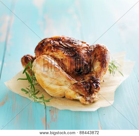 whole roasted chicken with herbs
