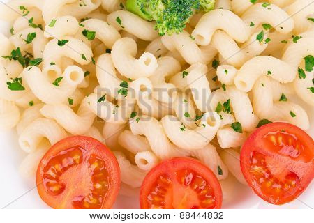 Tasty italian pasta. CLose up.