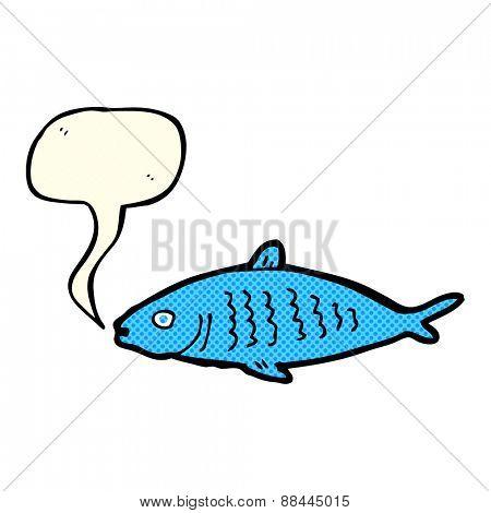 cartoon fish with speech bubble