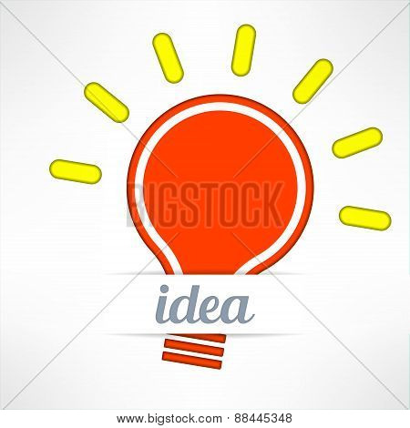 Light bulb inspirational background in modern simple design. Creativity and idea concept. Vector ill