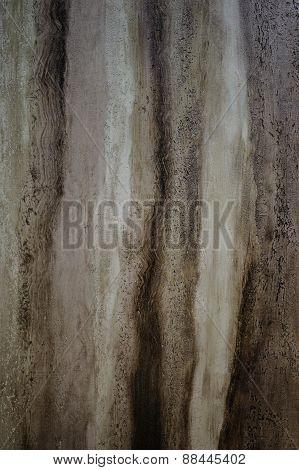 Texture Of Decorative Plaster Painted Like Wood