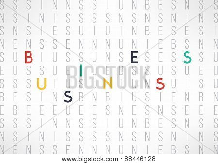 Business background template suitable for presentations and reports. Business word letters backgroun