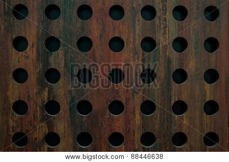 Old Metal Texture With Round Holes