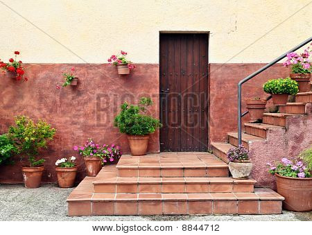 Mediterranean Style House Entrance