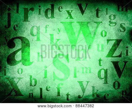Alphabet Background Grunge
