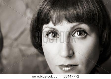 portrait of attractive woman. indoor shot