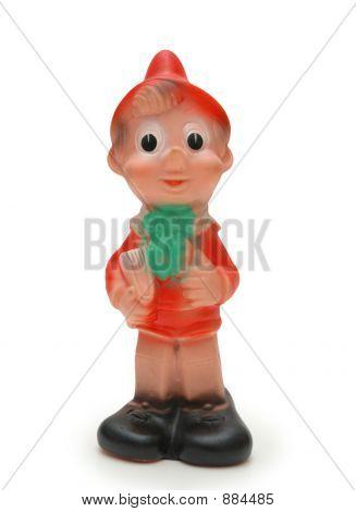 "Figure Of ""Pinocchio"" Isolated On White Background"