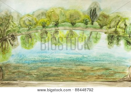 Summer Landscape, Painting
