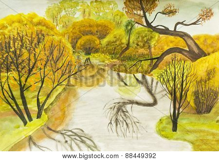 Autumn Landscape, Painting