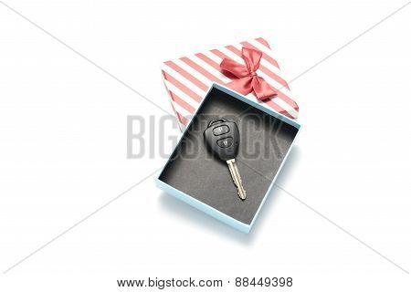 Car Key And Gift Box