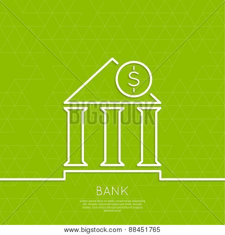 Financial institution with a coin