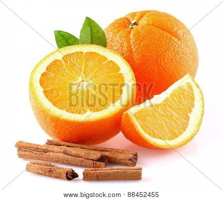 Orange with cinnamon