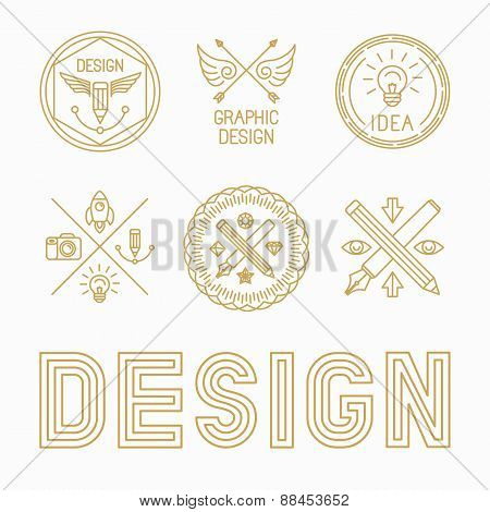 Vector Graphic Designer Badges And Logos