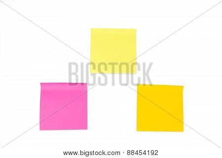Collection Of Paper Notes On White Background