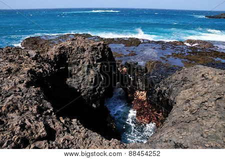 Volcanic Blow Holes