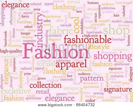 Abstract Fashion Word Cloud Background