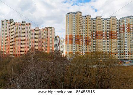 Krasnogorsk, Russia - April 18,2015. Krasnogorsk Is City And Center Of Krasnogorsky District In Mosc
