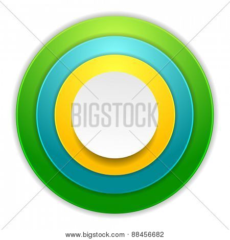 Bright colorful circles corporate background. Vector design