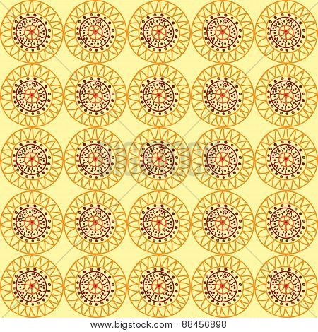 Yellow Background In African Style