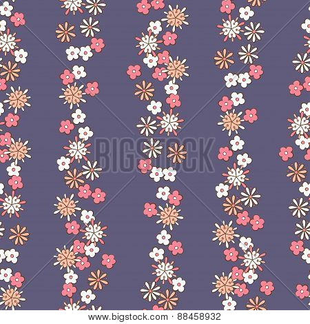 light background romantic floral seamless pattern. vector
