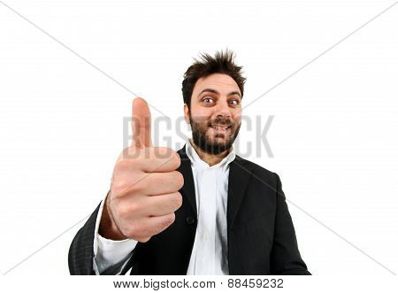 Funny Man With Thumb Up