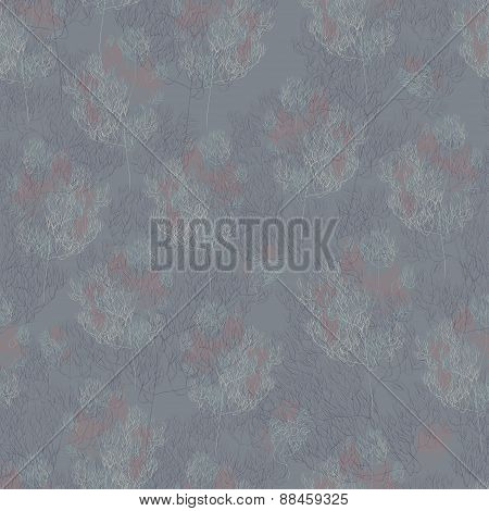 abstract branches seamless pattern. grey vector background