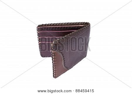 Brown Purse On A White Background