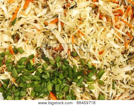 Mixture Of Ingredients For Salad