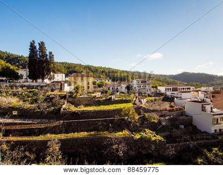 Typical Village In Tenerife. Canary Islands. Spain