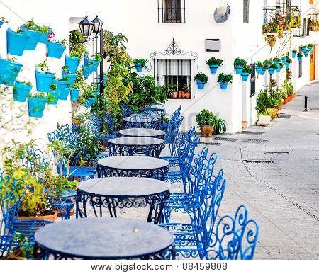 Picturesque street of Mijas village